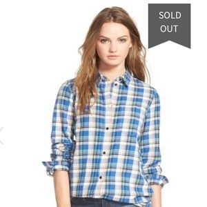 Madewell Tulsa Plaid Slim Boyfriend Shirt